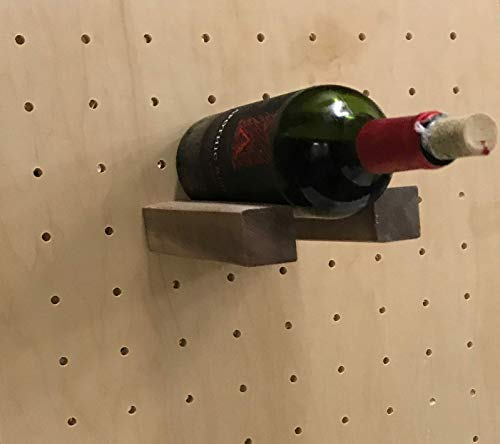 HandyCT Wall-Mounted Unfinished Plywood Wine Rack, Wine Pegs Pins Wine Bottle Holder. Square Shape pegs. Click Customize to Choose Your Size and Material