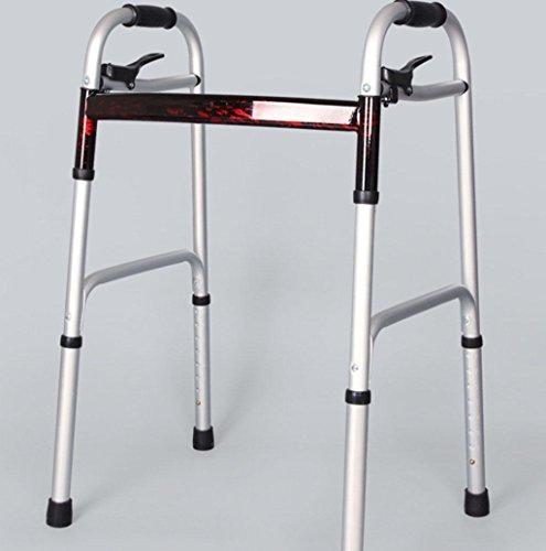 Wheeled Walking Aids Aluminum Alloy Elderly Folding Four Feet Walke Folding Mobility Rollator Walker by jiaminmin