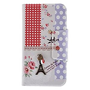 LZX 3D Eiffel Tower Pattern Full Body Case with Stand and Card Slot for Samsung Galaxy S4 I9500
