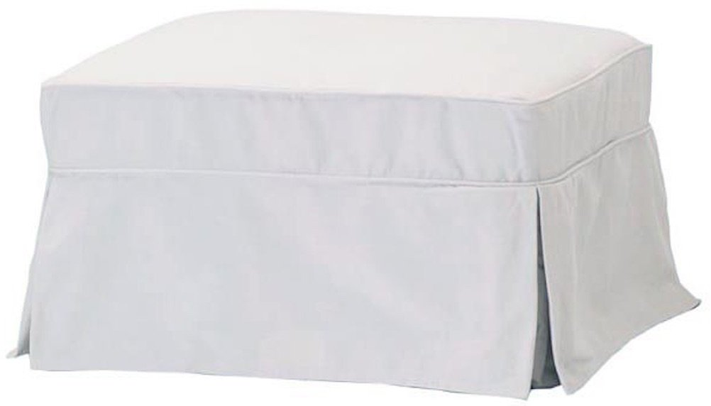 Phenomenal The Cotton Ottoman Slipcover Replacement It Fits Pottery Barn Pb Basic Ottoman Dense Cotton Sofa Footstool Cover White Basic Gmtry Best Dining Table And Chair Ideas Images Gmtryco