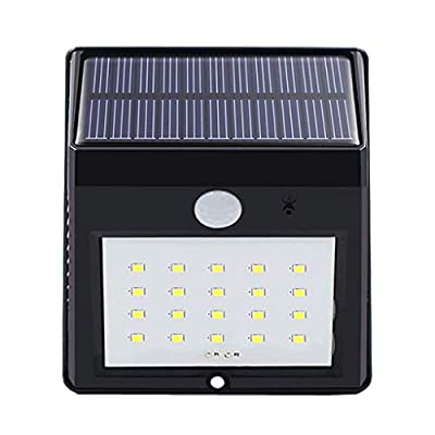 Solar Garden Light Motion Sensor Safety Light Outdoor Waterproof LED Solar Wall Light Wide Angle for Lane Garage Courtyard Pool