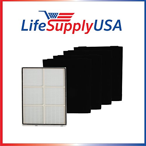COMPLETE SET True HEPA Replacement Filter for Kenmore 83375 83376 PLASTIC FRAME!!! Incl. 4 Pre-Filters