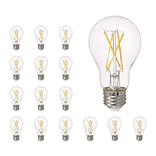 SYLVANIA General Lighting 40804, Soft White SYLVANIA LED A19 Natural Light Series, 60W Equivalent, Efficient 8W, Dimmable, Clear Finish, 2700K Color Temperature, 16 pack