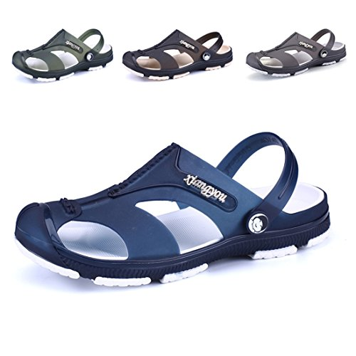 KRIMUS Summer Fashion Slipper Clogs Shoes for - Waterproof Blue Sandals