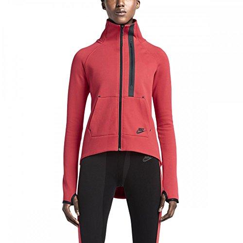 Nike Womens Tech Fleece Moto Cape Darling Red/Black