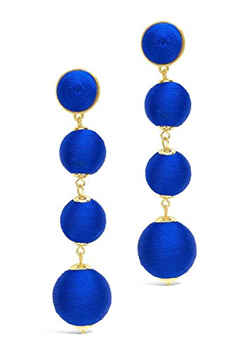 Sterling Forever - Multi Orbit Drop Earrings (Cobalt)