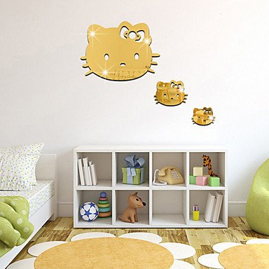 Xghc 1ps diy animals fashion leisure wall stickers 3d wall stickers mirror wall stickers decorative wall
