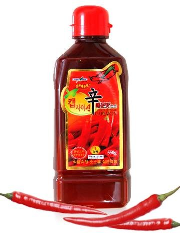 Korean Food_Chungwoo_Capsaicin Sauce_550g_Hot Spicy Dressing for Korean Meal Christmas Gifts