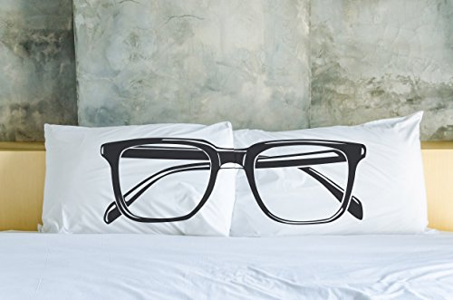 Bentin Home Decor Hipster Glasses Set of 2 Pillowcases by OBC, Standard 20