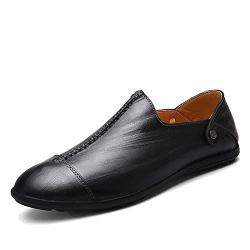 da vera antiscivolo Dimensione Nero Marrone in Pantofole pelle ZHRUI 44 uomo suola morbide EU Colore Fwq16YPIf