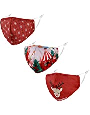 Woplagyreat 3Pack Fashion Designer Cotton Mask Breathable Reusable Adjustable for Outdoor Adults