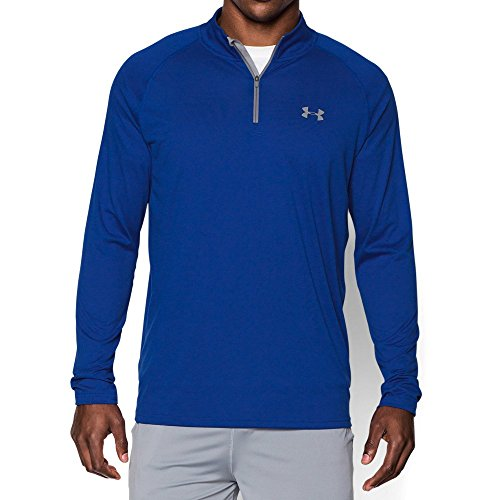 Under Armour Men's Tech 1/4 Zip, Royal/Steel, XXX-Large