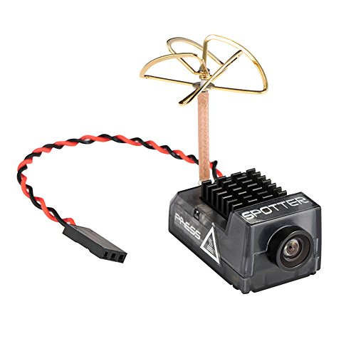 Spotter V2 Micro FPV AIO Camera 5.8G with OSD Integrated Mic,FOV170 Degree 700TVL Video Transmitter 40ch 20MW~200MW Adjustable VTX for Mini FPV RC Drone by Crazepony
