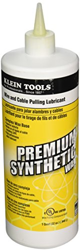 Klein Tools 51010 1-Quart Squeeze Bottle Premium Synthetic Wax Wire and Cable Pulling Lubricant