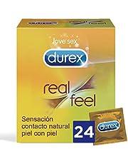 Preservativo Durex Real Feel 24 Condones + Lubricantes Sexuales Durex Play Eternal