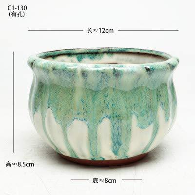 Bonsai Pots Used 12cm Light Blue Ceramic