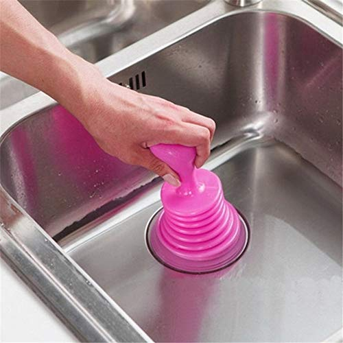 Randomly Delivered Portable Size Handheld Household Powerful Sink Drain Pipe Pipeline Dredge Suction Cup Toilet Plungers