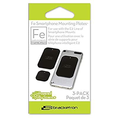 Bracketron Smartphone Additional Replacement Metal Mounting Plates works with Magnet Mounts iPhone X 8 Plus 7 SE 6s 6 Samsung Galaxy S9 S8 S7 S6 S5 Note Google Pixel 2 XL LG Nexus Sony Nokia BT1-637-2