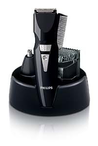 Philips - Set Cortapelo+Barbero Qg303010, Recargable, 9 Posiciones, Para Nariz, Orejas, Patillas, Nuca Y Barba, 5 Cabezales. Negro.