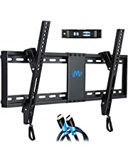 """Mounting Dream Tilt TV Wall Mount Bracket for Most 37-70 Inches TVs, TV Mount with VESA up to 600x400mm, Fits 16"""", 18"""", 24"""" Studs and Loading Capacity 132 lbs, Low Profile and Space Saving MD2268-LK-04"""