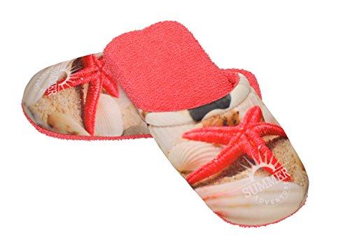 DE Chaussons Rouge 36 Mules 40 M pour Pantoufles Taille Femme Etoile Betz MER éponge Bain de en Couleur pAU0pgBRv