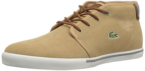 Lacoste Men's Ampthill Chukka Boot, tan Canvas, 8 Medium US