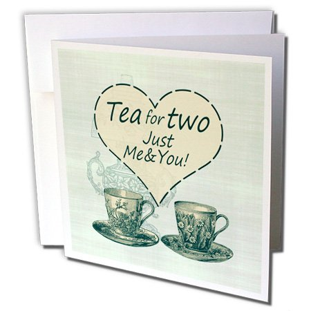 Russ Billington Designs   Tea For Two  Vintage China Teacups And Oil Lamp   6 Greeting Cards With Envelopes  Gc 239184 1