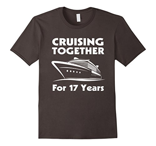 Mens 17 Years Together- 17th Wedding Anniversary Gift Ideas Large Asphalt