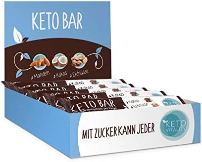 [Gesponsert]Keto Bar 15-er Box, Keto Riegel (NEUE REZEPTUR), lower carb, low sugar und vegan