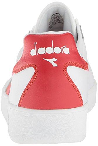 Diadora Mens B.elite Court Shoe Bianco / Bonnie Blu