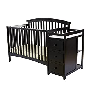 Dream On Me Niko 5-in-1 Convertible Crib and Changer, Black