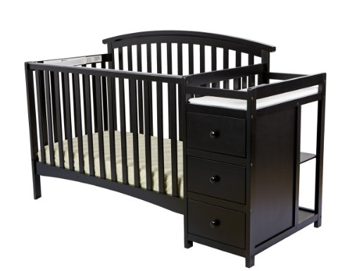 Pine Twin Size Daybed - Dream On Me Niko 5-in-1 Convertible Crib with Changer, Black