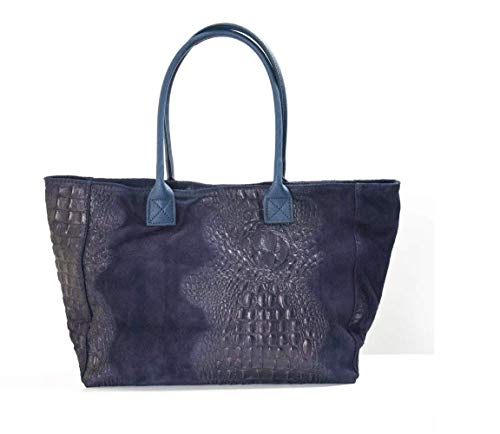cuir Bluebberry Sac A4 Format made en in Italy Awgw4S