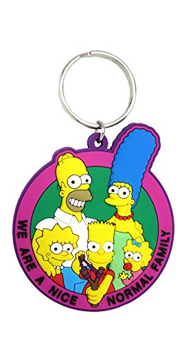 Fox The Simpsons Family Soft Touch PVC Keyring