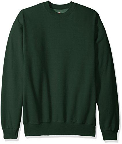 Hanes+Men%27s+Ecosmart+Fleece+Sweatshirt%2C+Deep+Forest%2C+Large
