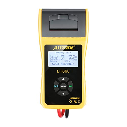 AUTOOL BT660 Battery Conductance Tester 12V/24V BT-660 Auto Battery Testers Automotive Diagnostic Tools for Heavy Duty Trucks, Light Duty Truck, Cars by AUTOOL (Image #1)