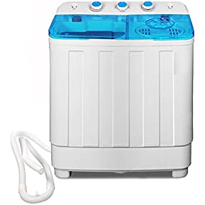 Bismi Portable Compact Washer and Spin Dry Cycle with Built-In Pump