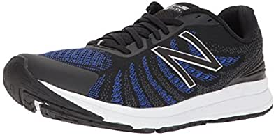 New Balance Men's FuelCore Rush Running Shoes, Black/Blue, EU 41 1/2