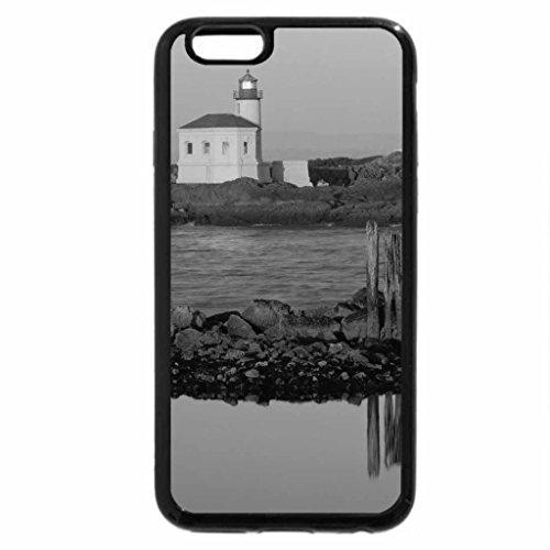 iPhone 6S Plus Case, iPhone 6 Plus Case (Black & White) - coquille river lighthouse bandon oregon
