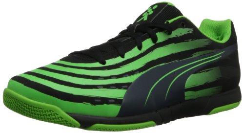 Puma Trovan Lite Scarpe da calcio Black/Ombre Blue/Fluorescent Green