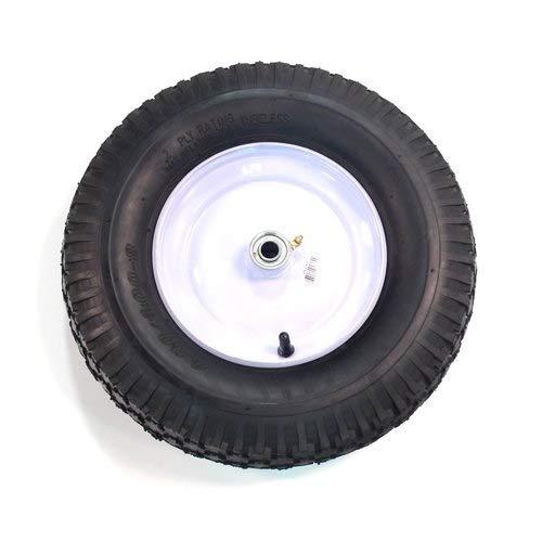 Arnold 15.5-Inch Wheelbarrow Wheel with Knobby Treat 480-400-Inch x 8-Inch