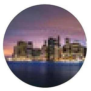 alfombrilla de ratón Nuevo Amanecer sobre Nueva York - ronda - 20cm
