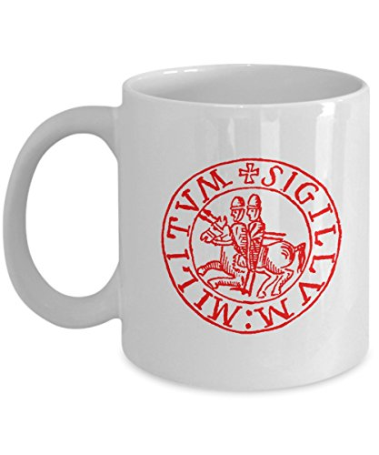 12th Century Knights Templar Order Symbol Seal Gift Coffee Mug ()