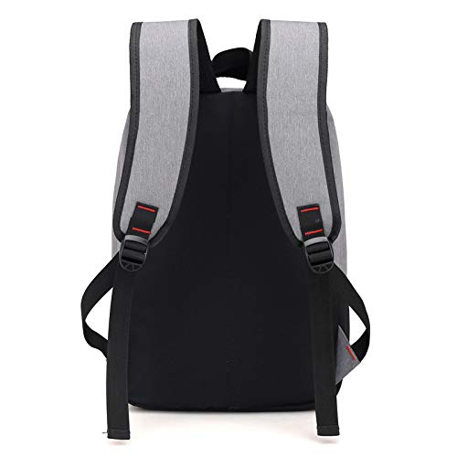 Trend Color Fashion Business Smart Outdoor Zhjb Breathable Charging Bag Travel Usb Men's Solid Casual Backpack Bag red Black Wearable Computer Picnic wqwYzIt