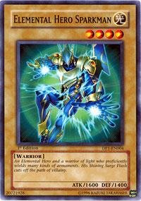 Yu-Gi-Oh! - Elemental Hero Sparkman (DP1-EN004) - Duelist Pack 1 Jaden Yuki - Unlimited Edition - Common