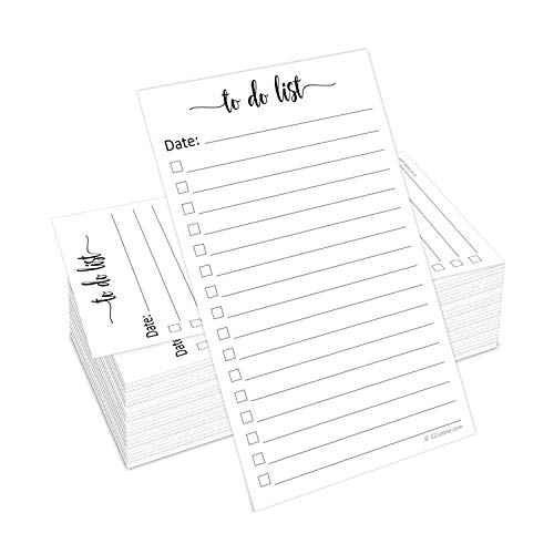 321Done to Do List Cards 3″ x 5″ (Set of 100) Vertical Index Cards, Double-Sided Notecards with Date to-Do Checklist – Thick Card Stock – Made in The USA, Simple Script