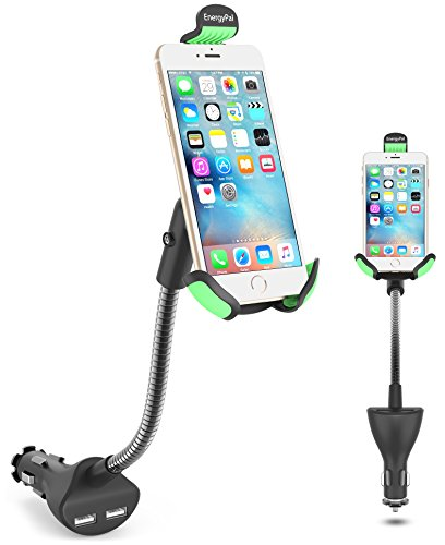 Car Mount, EnergyPal HC84K Car Smartphone Holder with Dual USB 2.1A Charger With Over Charge and Over Current Protection by EnergyPal