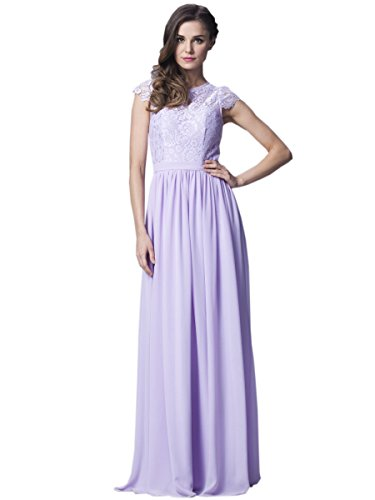 Belle House Lilac Long Maid of the Honor Dress Cheap Covered Buttons Occasion Gown
