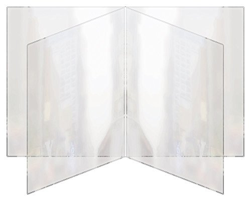 RABCO Products, Inc 400 8.5x11 All Clear Heat Sealed Vinyl Menu Cover Quad Pocket 8 View, 8.5