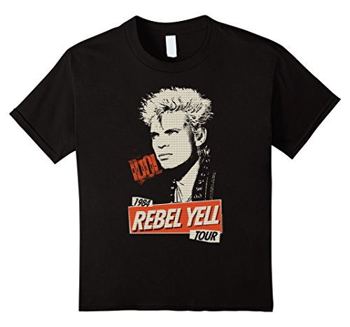 Billy Collection Childs (Kids Billy Idol - The Rebel T-Shirt 6 Black)